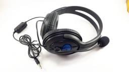 Fone Headset Gamer Com Led para Ps3 4 e Smartphones saída p2 Usb Pc Notebook