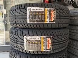 Título do anúncio: Par(2) pneus Crystone remolde 185/65/15