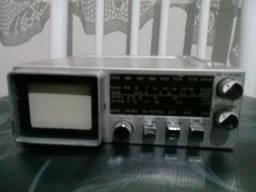Antigo Radio E Tv Portatil Para Carro - anos 80