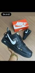 Nike air force preto costurado