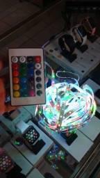 Fita Led RGB 5 Metros com Controle Entrega Grátis