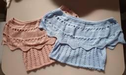 Blusas em tricô (NOVAS)!
