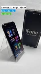 Título do anúncio: iPhone X Preto 64gb perfeito estado conservação saúde 100%