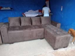 Título do anúncio: Sofa novo com cheyse cor marrom