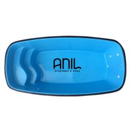 Título do anúncio: JA - Piscina Anil - piscina nova de fibra - 4 x 2 x 1m