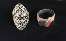 Combo de anéis prata 925