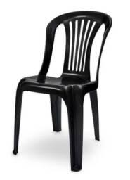 Título do anúncio: Cadeira Bistro Plástico Preta - Promoção