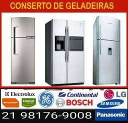 Título do anúncio: Conserto de geladeira freezer ar-condicionado 24Horas