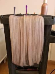Título do anúncio: Mega hair  humano  em  tela loiro