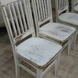 Jg 4 cadeiras dep santa fé madeira peroba usado