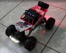 Carrinho C/ Leds e Controle Remoto - Carro 4x4 e C/Bateria Interna - Lindo Brinquedo!