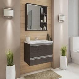 Título do anúncio: Gabinete para Banheiro Messina e Espelheira Treviso - Mgm Móveis