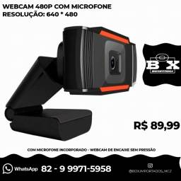 Webcam 12mp 480p Stream Pc Computador Notebook Encaixe