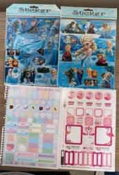 Adesivos Frozen e de caderno.