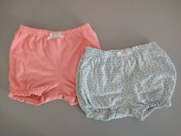 Kit com 2 shorts de elástico tipo bolha da Carters<br><br>
