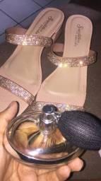 Sandália luxo nova