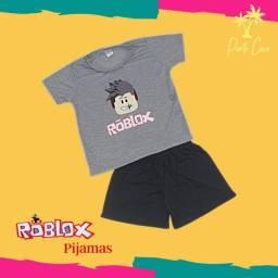 Pijamas Roblox Manga curta