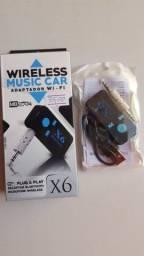 Receptor Bluetooth Carro Aux SD Promoção [Novo]#