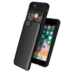 Capa (Capinha) iPhone SE (2020) com porta cartão de crédito