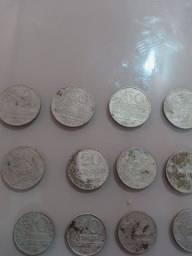 Moeda rara 50 20 10 centavos 1967 5000 reis 300 reis 200reis