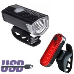 Entregamos Grátis* Kit Luz de segurança  Dianteira e Traseira Recarregável USB