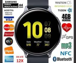 Smartwatch Galaxy Watch Active2 44mm 4GB Tizen, GPS, Bluetooth, Novíss, NF, Gar