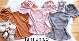 Blusas caneladas cores