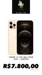 IPHONE 12 PRO MAX 256GB GOLD OU GRAFITE NOVO ZERO E LACRADO!!! PRONTA ENTREGA