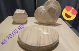 Produtos feitos em tábua pinus