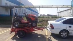 fazemos serviço com trator de corta grama