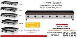 Título do anúncio: Chapa Bifeteira a Gás e com 4 Queimadores 1m - Edanca