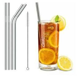 Título do anúncio: Kit de canudos inox reutilizável+ escova de brinde