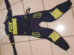 Conjunto Motocross Fox 360 Bann Flúor
