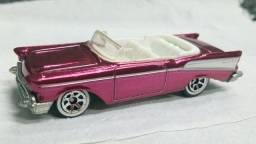 Título do anúncio: Hot Wheels Antigo e Raro Chevy 57 Bel-Air Rosa Pink Metálico