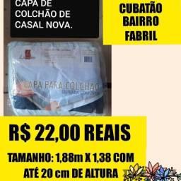 22,00 reais  novo capa de colchão de casal/ chama no Whatsapp
