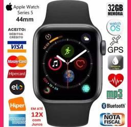 Apple Watch 5 44mm Cerâmica, A prova D'água, GPS, Novíss, Caixa, NF, Gar Apple, Troco!
