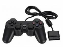 (NOVO) Controle Playstation Ps2 com fio com Analógico