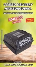 Caixa para Hambúrguer Delivery