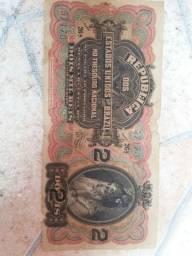 Cédula de 2 mil réis império 1899