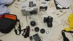 Câmera canon dslr eos rebel sl2 + lente 18-55mm +40mm kit