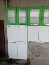 Armário de aço para cozinha de 4 módulos