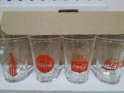 Jogo de copos novos Coca Cola