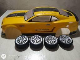 Bolha Camaro e rodas automodelo 1/10 , 190mm