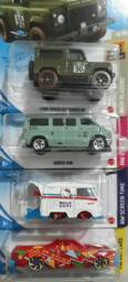 Hot wheels colecionáveis ( kit c/ 4 unidades ). valor do kit r$ 130,00