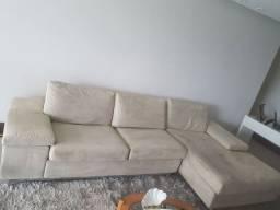 Sofá chaise as duas partes podem ser unidas ou separadas
