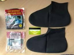Par reutilizável látex à prova d'água para calçados usados na chuva antiderrapante