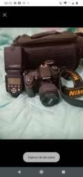 Câmera fotográfica dslr lente do kit nova