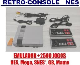 Retro Console Emulador de VideoGame Nintendo com 2.500 jogos (5 videogames em 1)