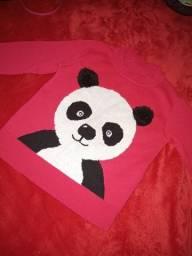Blusa de panda rosa