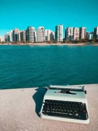 O.L ano 1950 funcionando Maquina de escrever antiga - antiguidade